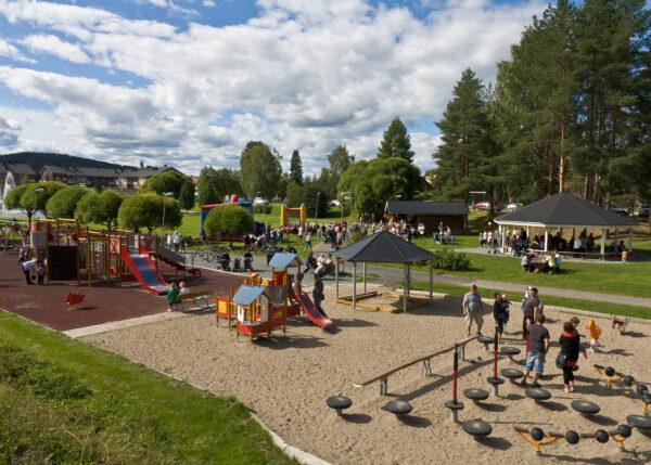 Summer Café in Lomtjärnsparken